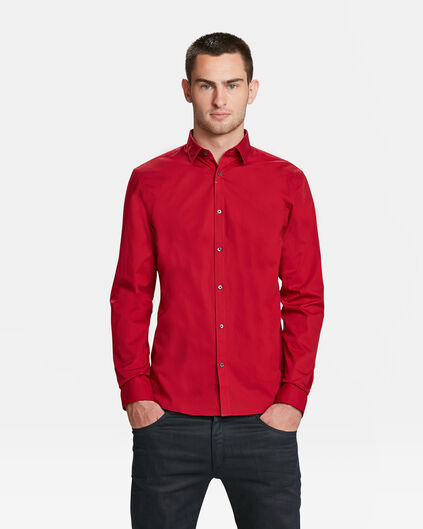 CHEMISE SLIM FIT STRETCH HOMME Rouge