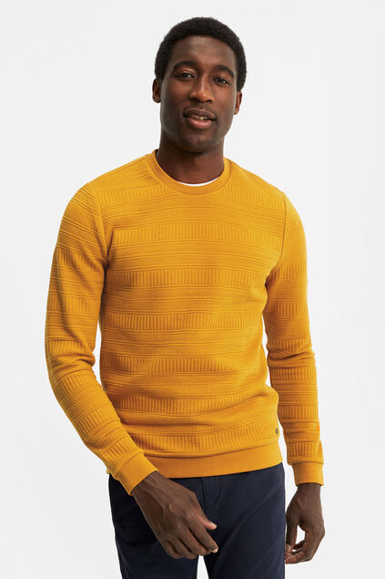 Sweat-shirt homme Jaune ocre