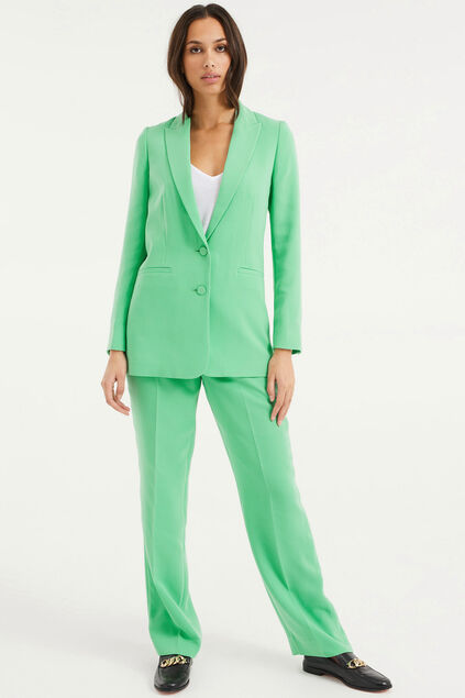 Pantalon regular fit femme Vert vif