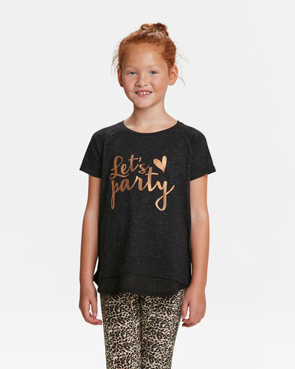 T-SHIRT PARTY PRINT FILLE Noir