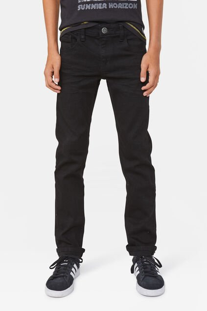Jeans super stretch regular fit garçon Noir