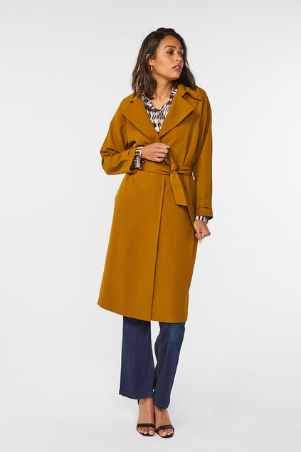 Trench-coat femme Jaune moutarde