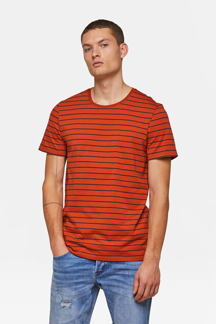 T-shirt breton rayé homme Orange