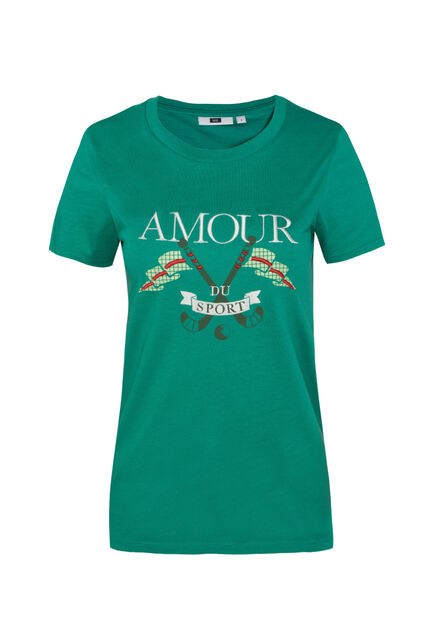 T-shirt à application femme Vert
