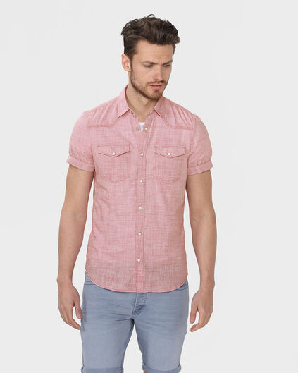 CHEMISE SLIM FIT HOMME Rouge eclair