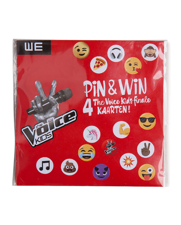 BADGES THE VOICE KIDS Blanc