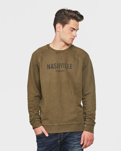SWEAT-SHIRT RELAXED FIT HOMME Vert armee