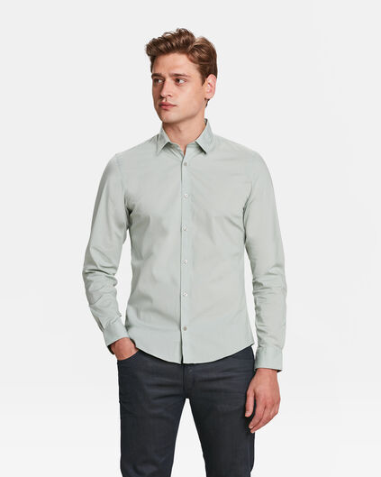 CHEMISE SLIM FIT STRETCH HOMME Gris clair