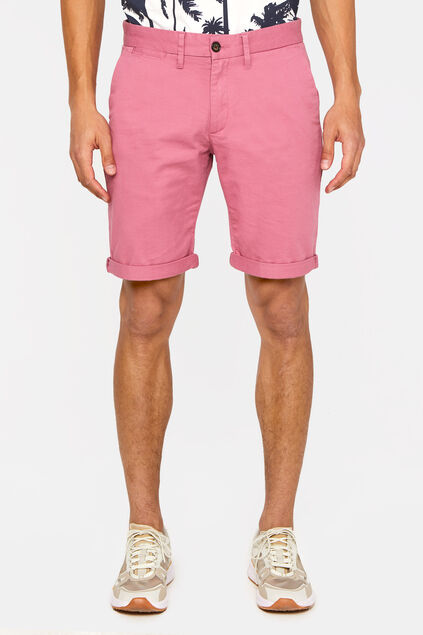 Short chino slim fit homme Rose