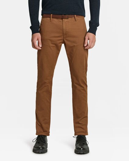 CHINO SKINNY FIT HOMME Brun Cannelle