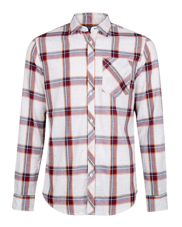 CHEMISE RELAXED FIT CHECKED HOMME Orange