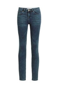 Jeans mid rise super skinny femme_Jeans mid rise super skinny femme, Bleu