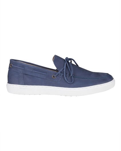 BASKETS REAL LEATHER HOMME Bleu marine