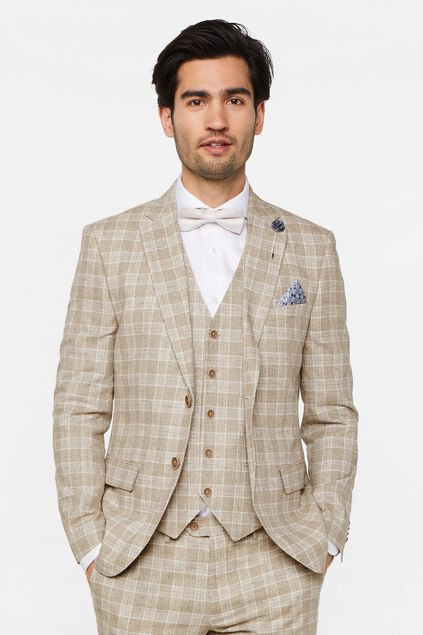 Blazer slim fit à carreaux Clinton homme Imprimé