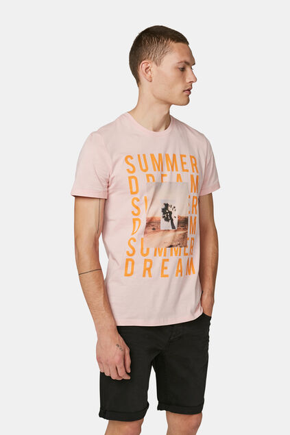 T-shirt à imprimé summer dream homme Rose clair