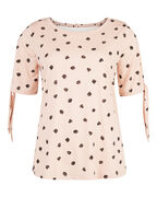 TOP COLD SHOULDER FEMME_TOP COLD SHOULDER FEMME, Rose