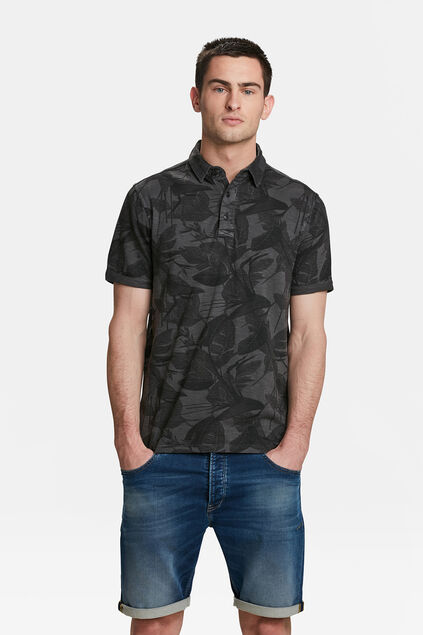 POLO LEAF PRINT HOMME Anthracite