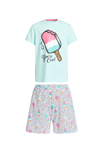 Pyjama à motif glaces fille Multicolore
