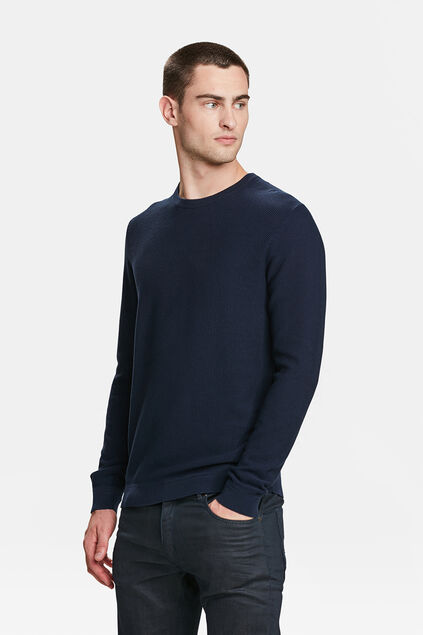 PULL STRUCTURE KNIT HOMME Bleu marine