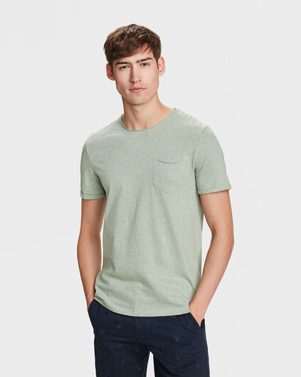 T-SHIRT SLIM FIT HOMME Gris clair