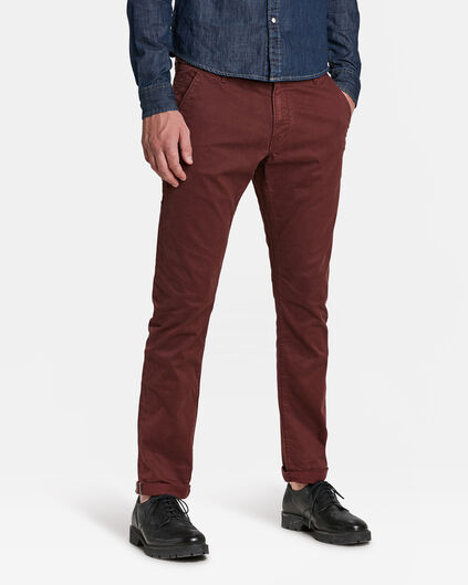 CHINO SLIM TAPERED HOMME Bordeaux