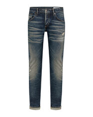 JEANS SLIM TAPERED COMFORT STRETCH SELVEDGE HOMME_JEANS SLIM TAPERED COMFORT STRETCH SELVEDGE HOMME, Bleu