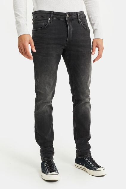 Jeans jog denim slim fit homme Noir