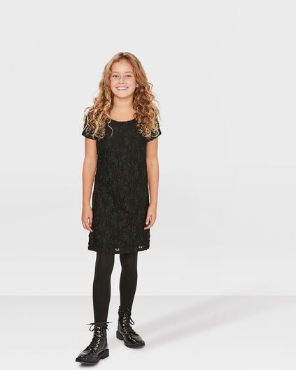 ROBE LACE MINI ME FILLE Noir