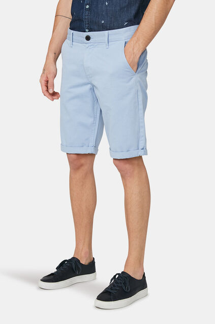 Short chino long fit homme Bleu eclair
