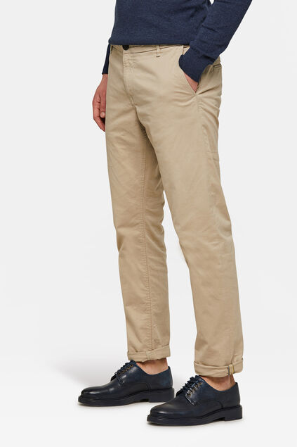 CHINO REGULAR TAPERED HOMME Blanc cassé
