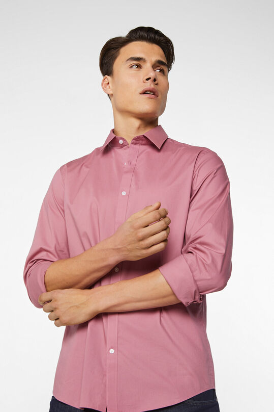 Chemise slim fit stretch homme Vieux rose