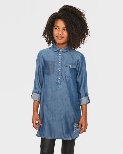 ROBE CHEMISIER DENIM FILLE Bleu