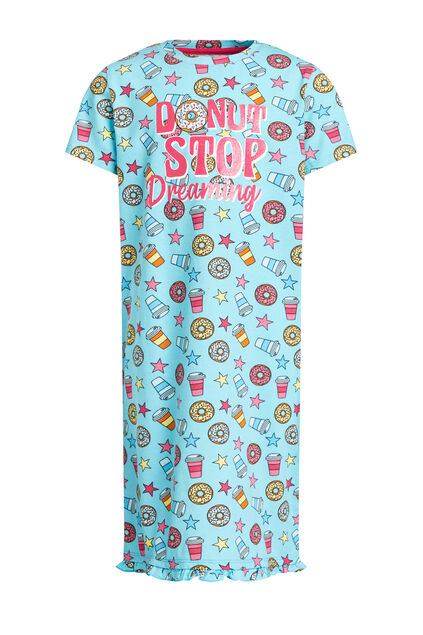 Chemise de nuit à application fille Multicolore