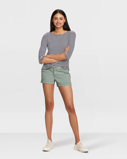 SHORT RELAXED FIT CHINO FEMME Vert olive