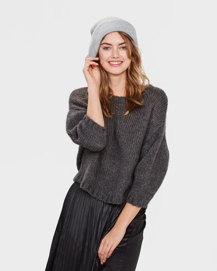 PULL CROPPED STER FEMME Gris