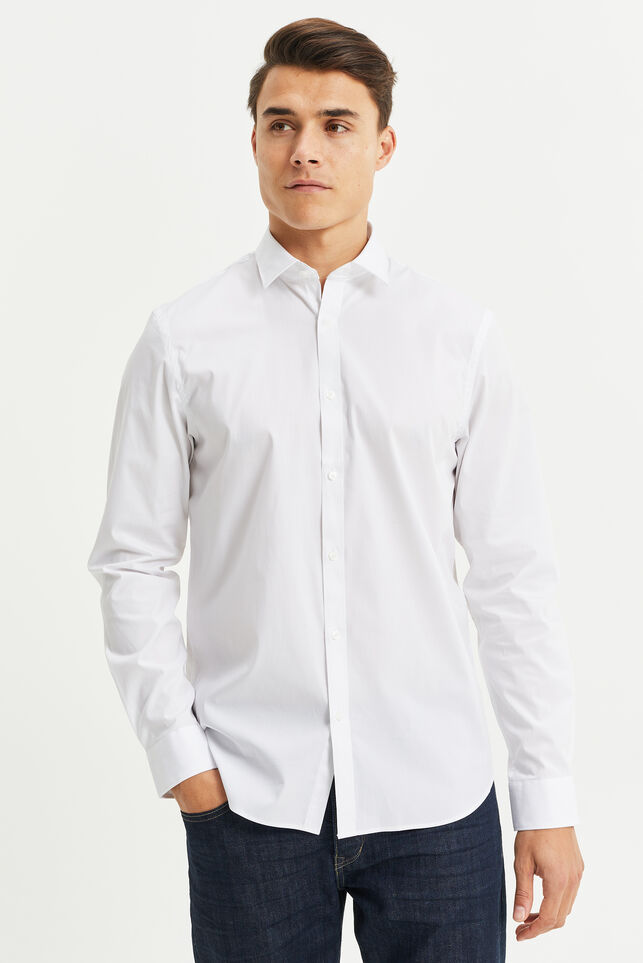 Chemise regular fit stretch homme Blanc