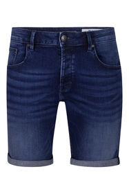 Short denim regular fit homme_Short denim regular fit homme, Bleu foncé