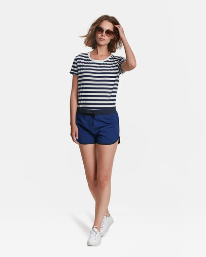 SHORT SWEAT REGULAR FIT JERSEY FEMME Indigo