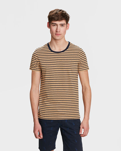 T-SHIRT SLIM FIT STRIPE HOMME Beige