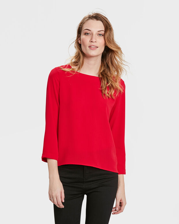CHEMISIER SOLID FEMME Rouge