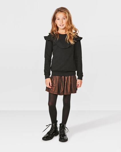 JUPE METALLIC LOOK SKATER FILLE Bronze