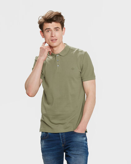 POLO PIQUE HOMME Vert olive