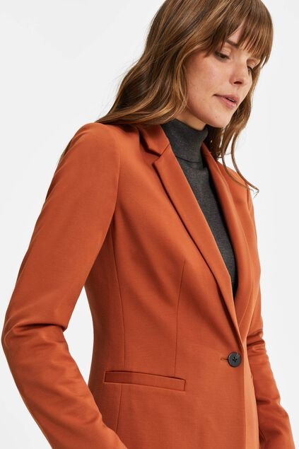 Blazer regular fit femme Terra Cotta