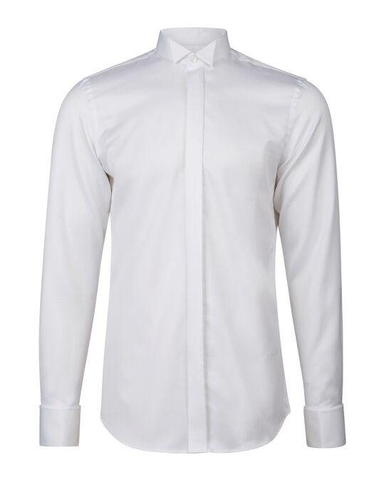 CHEMISE SMOKING SLIM FIT HOMME Blanc