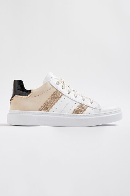 Baskets de cuir Braqeez fille Multicolore