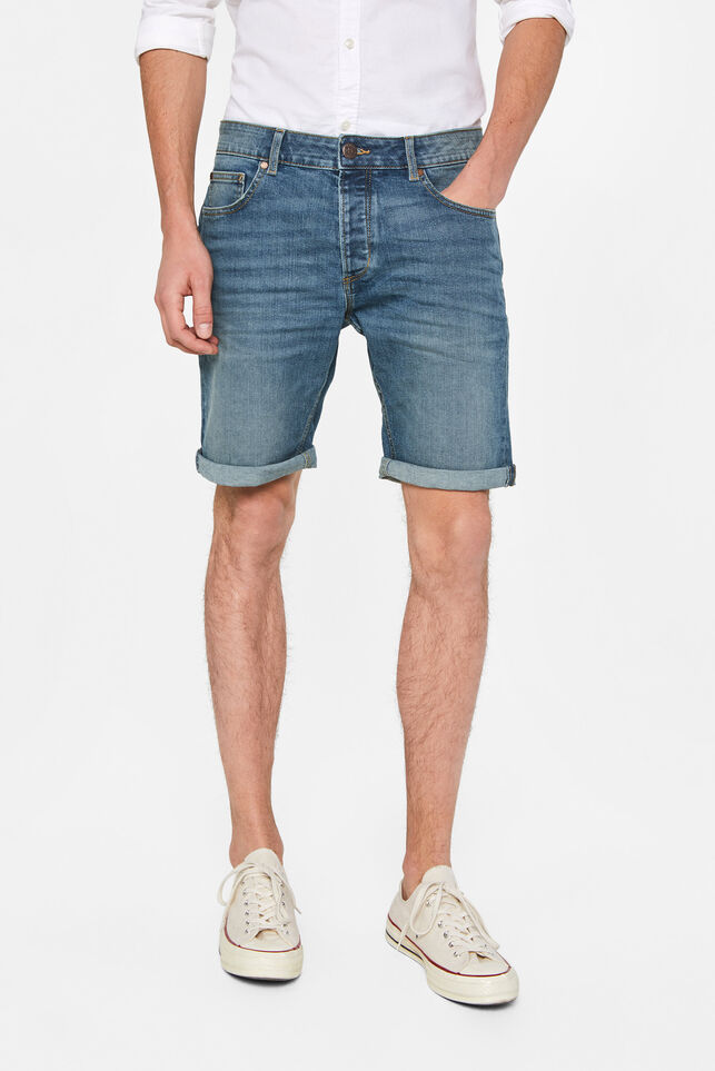 Short denim regular fit homme Bleu gris