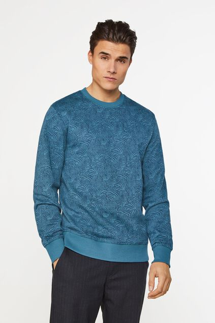 Sweat-shirt à motif homme Bleu