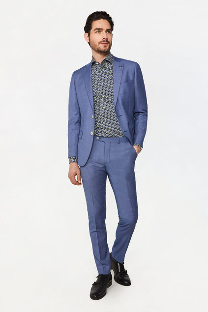 Costume tailored fit à motif Vinci homme