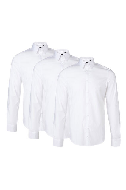 Chemise slim fit stretch homme pack de 3