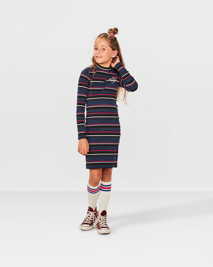 ROBE STRIPE FILLE Multicolore